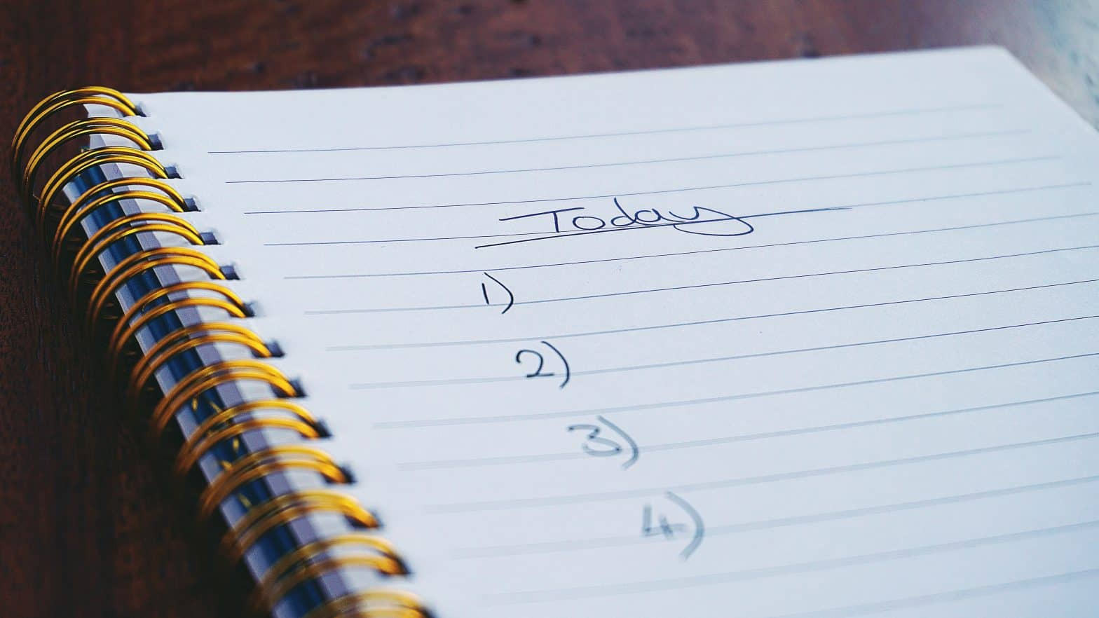 How to organize your to-do list? A notebook with a blank to-do list.