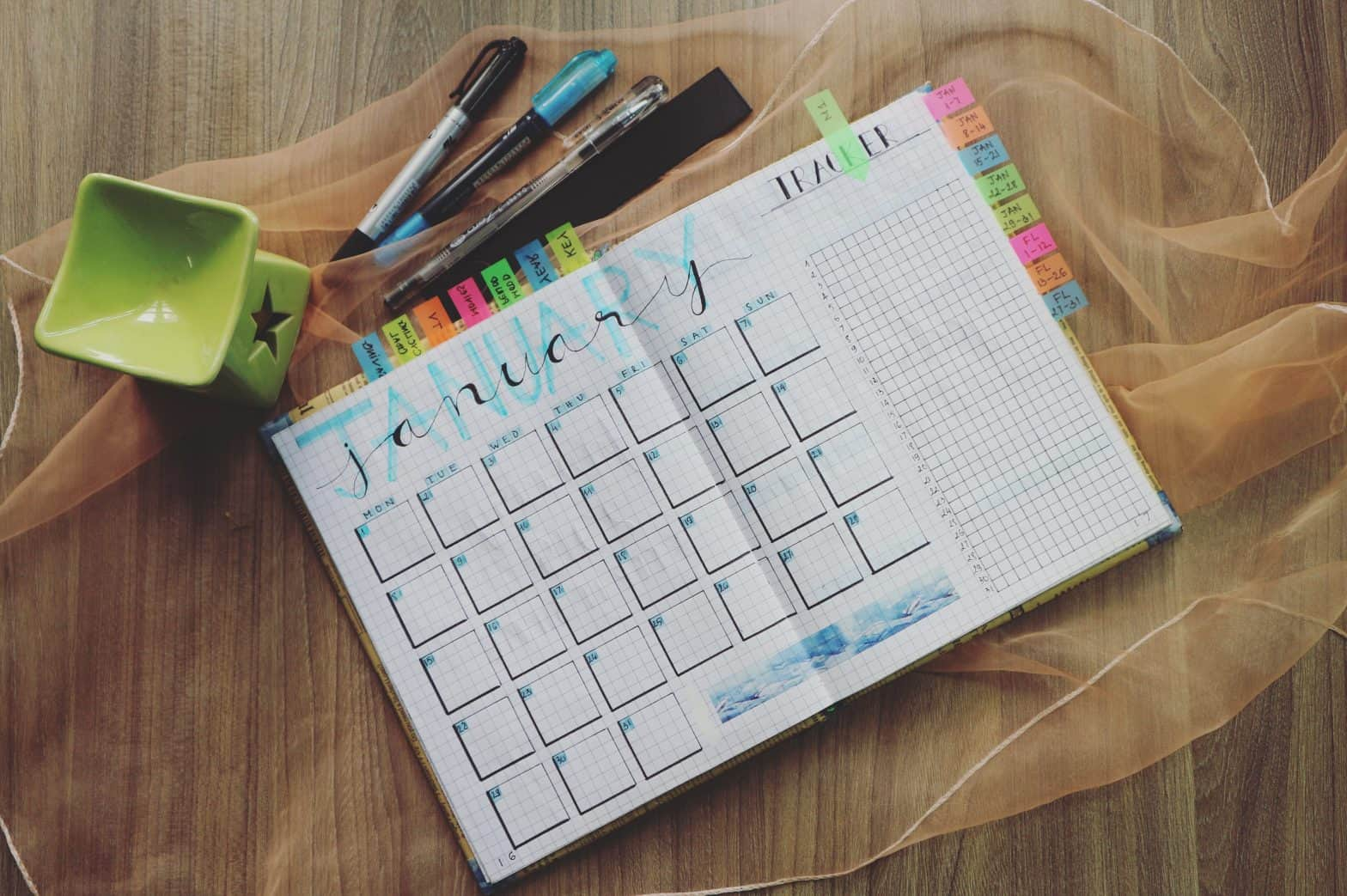 A picture of a calendar for scheduling and helping you manage time in college.