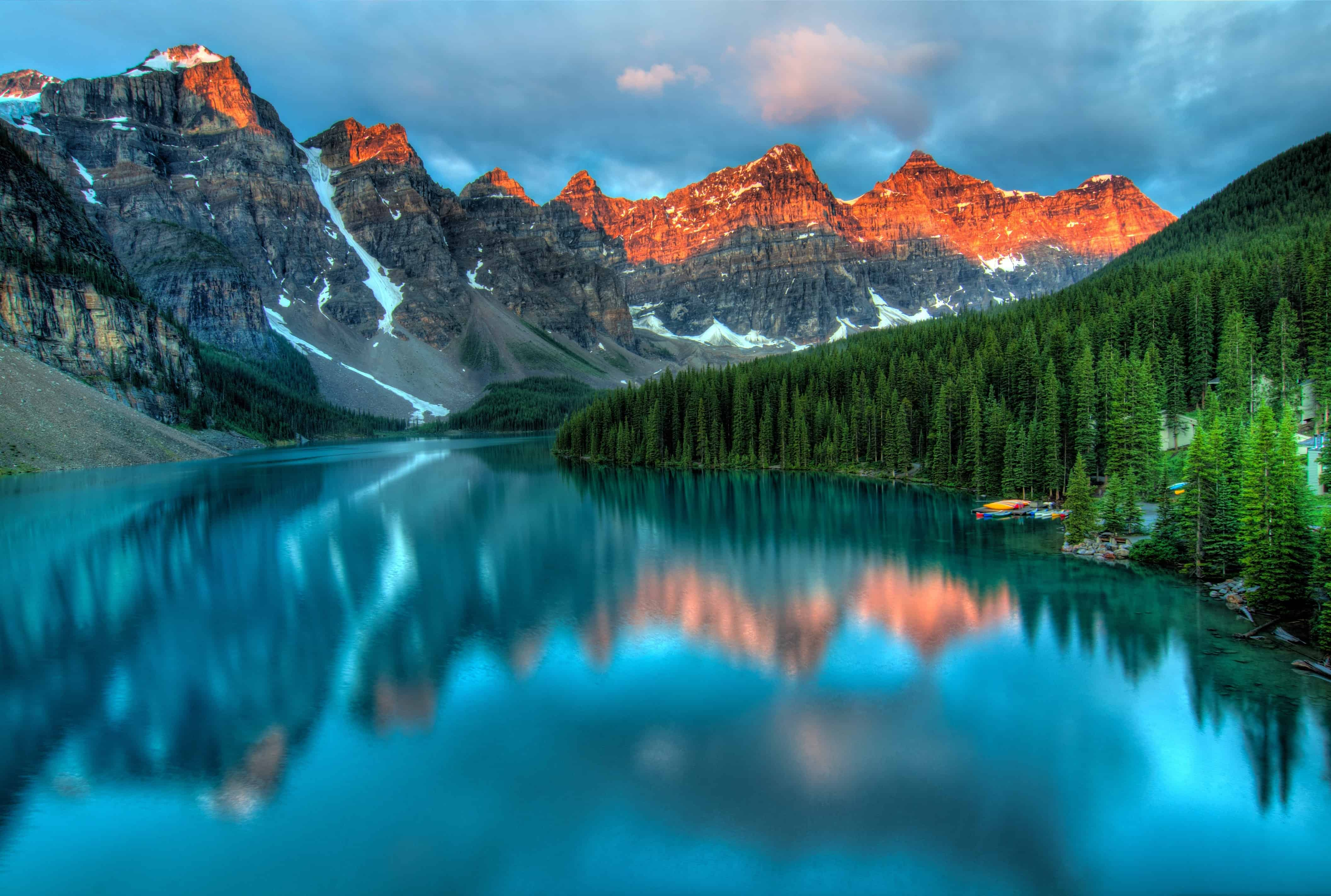 Mountains at the far end of a lake. Nature is one way to find inspiration.